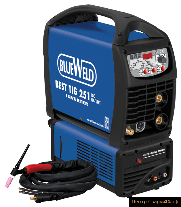 Инверторный аппарат BlueWeld Best TIG 251 DC HF/Lift VRD Aqua